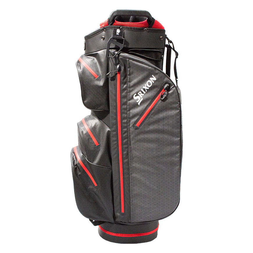 Srixon Waterproof Ultradry Cart Bag,Black/Red