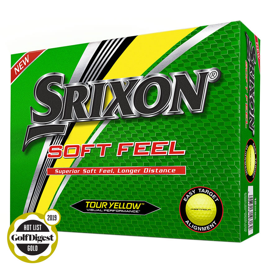 SOFT FEEL GOLF BALLS,Tour Yellow