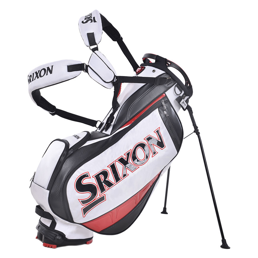 Srixon Tour Stand Bag,White/Red/Black